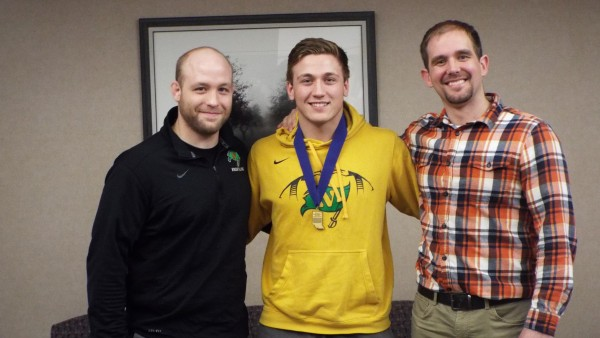 Conner Graber and Wrestling Coaches