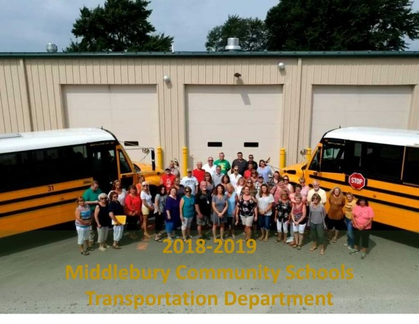 Our 2018-19 Middlebury Community Schools Transportation Department is looking great and ready to go!
