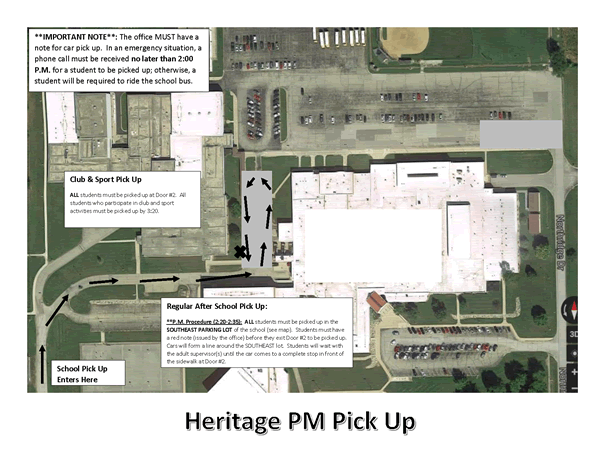 PM Pick-Up Map