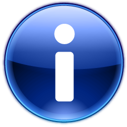 "about icon (lowercase letter ""i"" in a blue circle)"